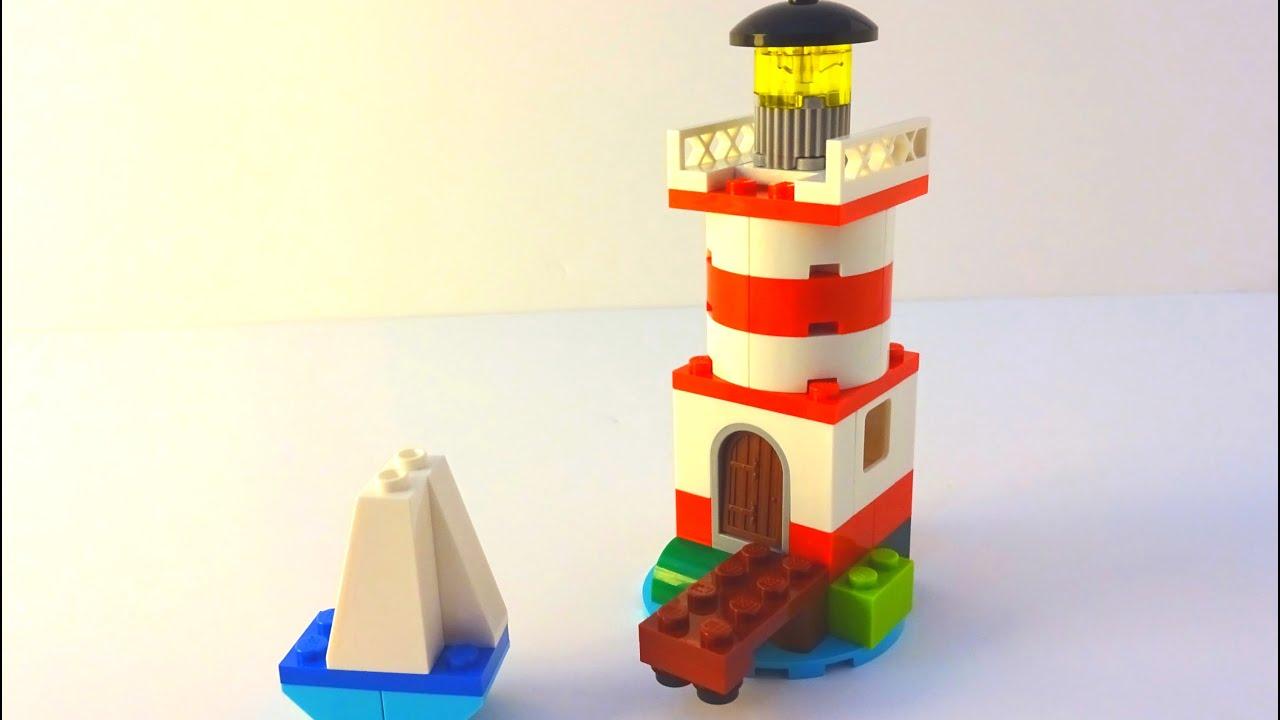 How to Build a Lego Lighthouse & Sail - Lego Classic 10692 (2015)