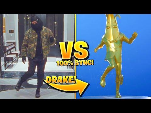 FORTNITE DANCES IN REAL LIFE 100% IN SYNC! (Drake Toosie Slide)