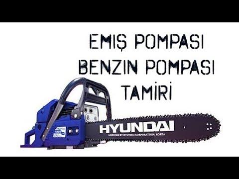 #Hyundai Benzinli Testere Turbo650  Emiş Pompası Benzin Pompası Tamiri