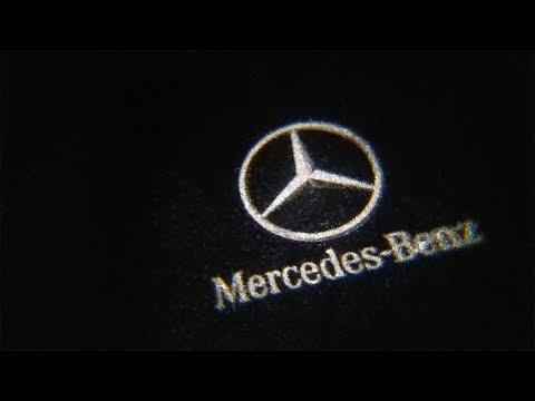 Install Mercedes Door Logo Light Mod w/Shadow Light Mp3