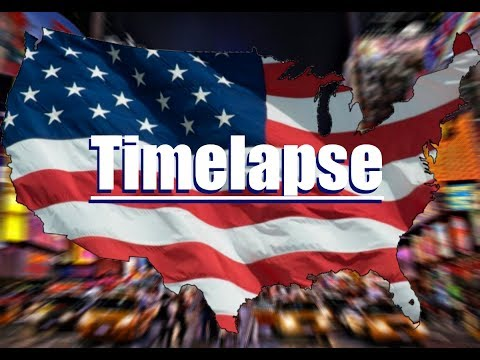 4th of July - United States Flag Map Timelapse