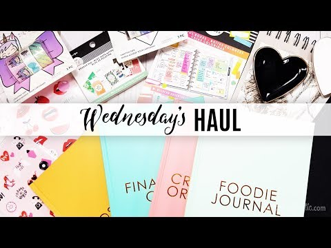 Wednesday's Haul 01.09.2019 - Craft & Planner Supplies Michael's, Target and RANDOM GIVEAWAY!