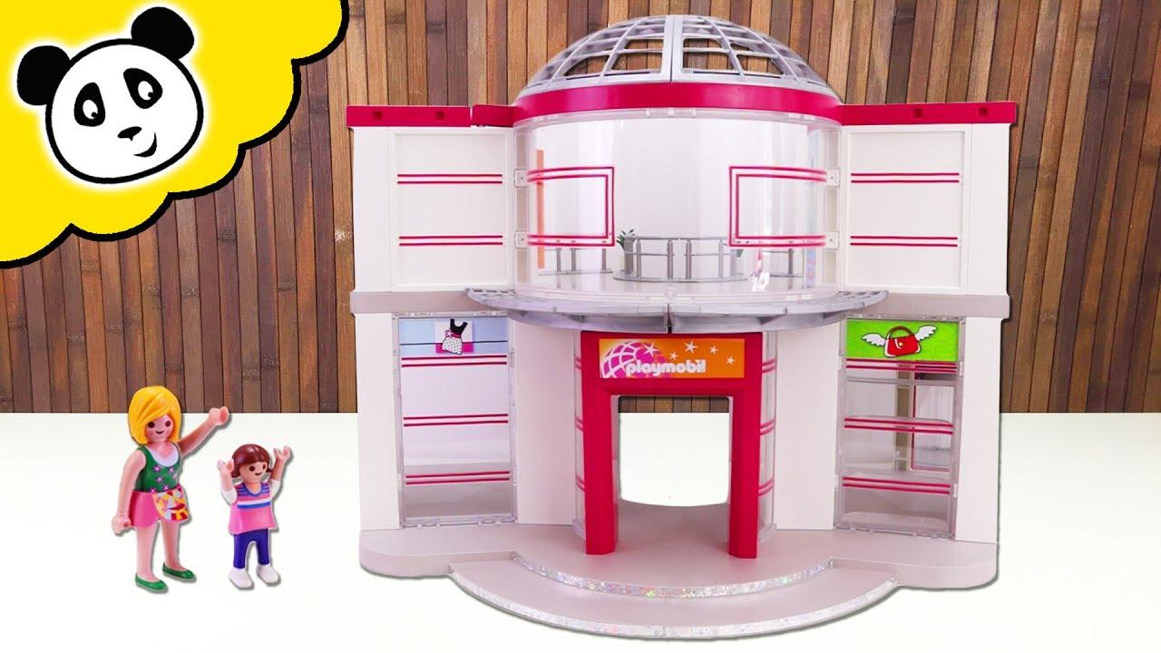 playmobil shopping center  shoppen bis zum umfallen