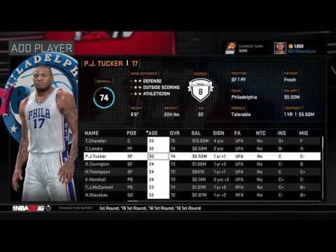 NBA2K16 Rebuilding The Phoenix Suns