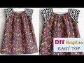 DIY Designer Raglan Baby Top Cutting And Stitching Full Tutorial