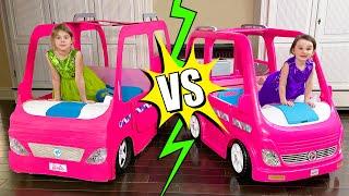 Five Kids Barbie Car Real & Сardboard Birthday Party