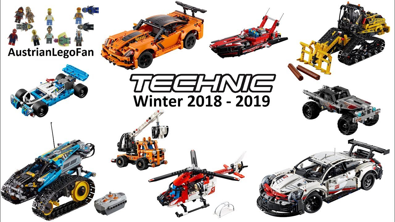 all lego technic sets winter 2018 2019 compilation of. Black Bedroom Furniture Sets. Home Design Ideas