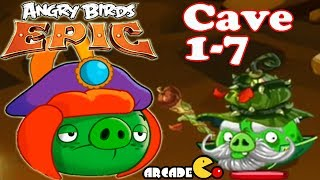 Angry Birds Epic - MASSIVE BOSS BATTLE CAVE 1-7 Shaking Hall 7 - Angry Birds Game