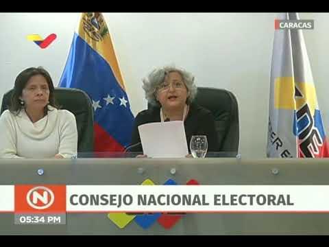 Tibisay Lucena lee comunicado del Poder Electoral repudiando juramentación de Juan Guaidó