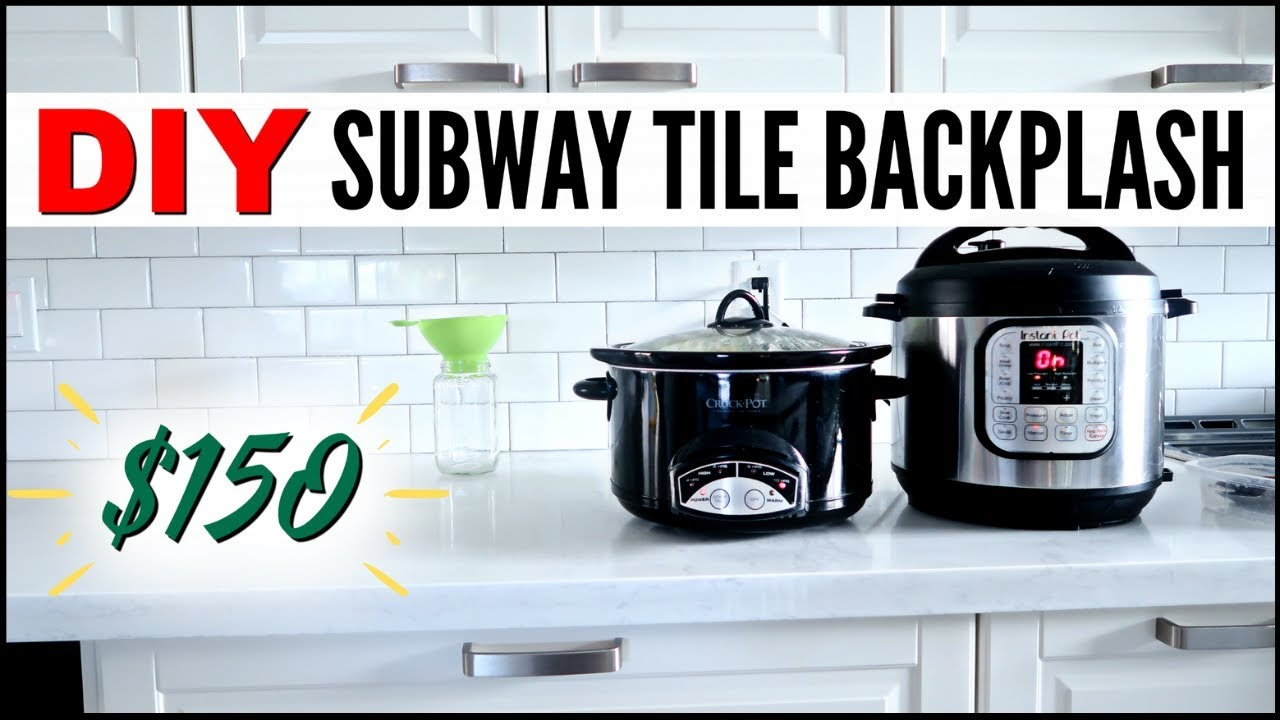 My frugal diy 150 subway tile backsplash how to install subway my frugal diy 150 subway tile backsplash how to install subway tile debt free fixer upper dailygadgetfo Image collections