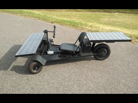 40 km/h Homemade Solar Car  (dramatic reconstruction)