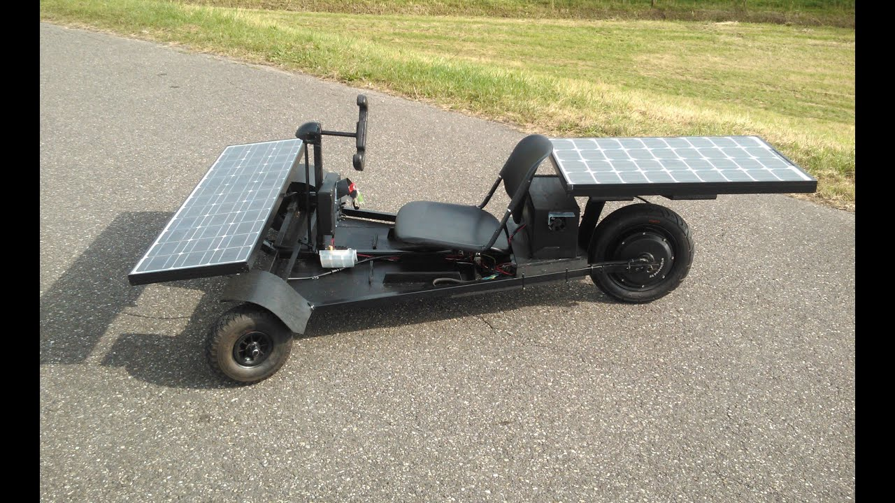 40 km h homemade solar car dramatic reconstruction youtube for How to build a solar panel for kids