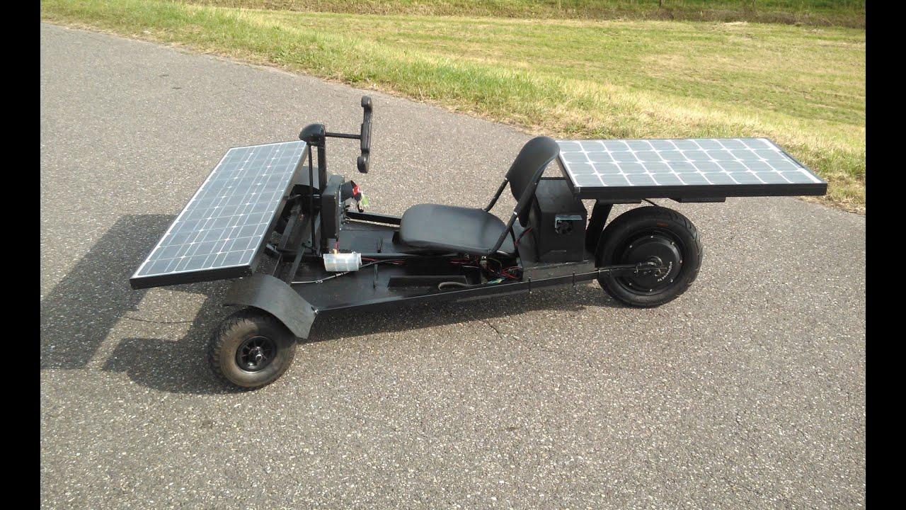 40 km/h Homemade Solar Car (dramatic reconstruction) - YouTube