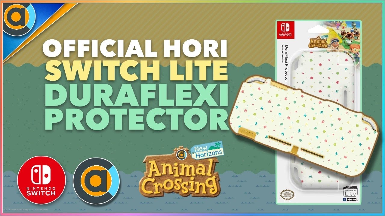 Animal Crossing Switch Lite Hori Official Duraflexi Protector Grip