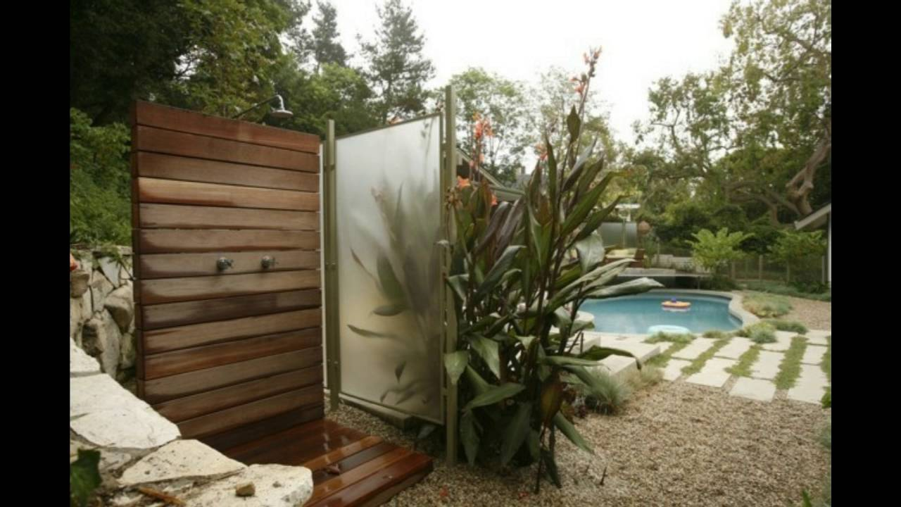 Dise o de platos de ducha para el jard n youtube - Duchas solares para piscinas ...