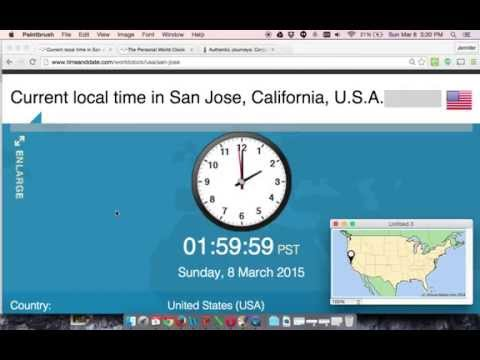 1 Minute Countdown - Beginning Of Daylight Savings Time In California And PST 2015