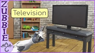 How to Make a 1/12 Scale Miniature Television, DIY TV Craft for Dollhouse or Diorama