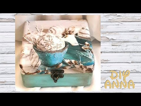 decoupage vintage easter eggs box DIY shabby chic ideas