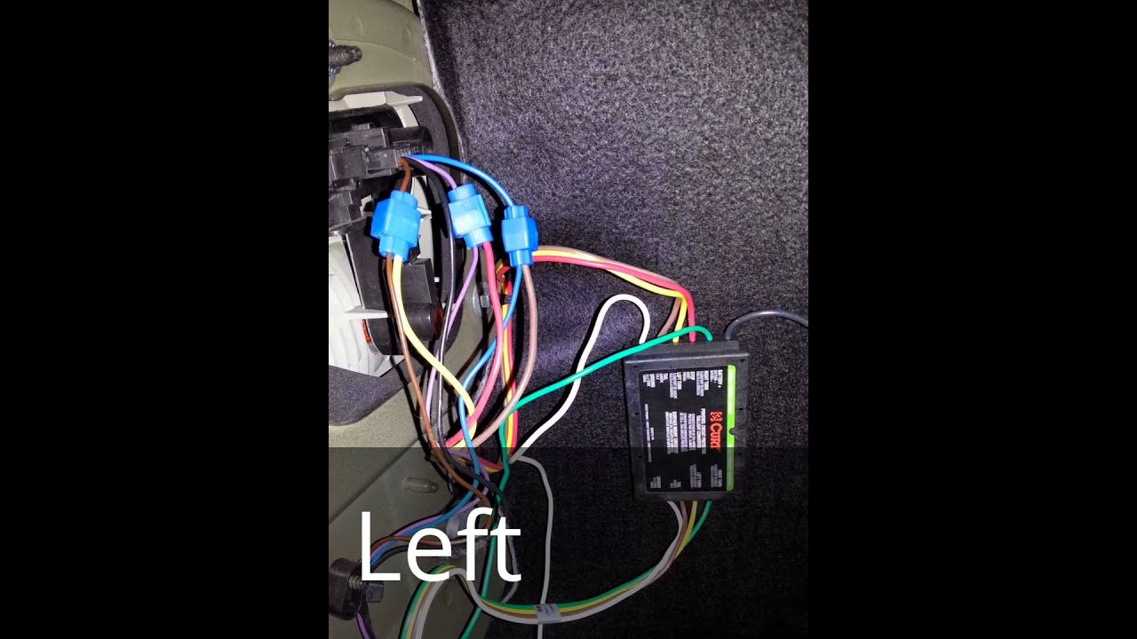 curt #56146 trailer wiring harness installation on saab 9-3 linear 2003