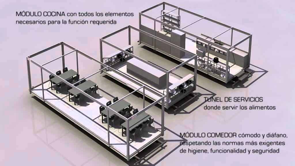 Unidad movil cocina comedor modulos arco for Modulos para comedor