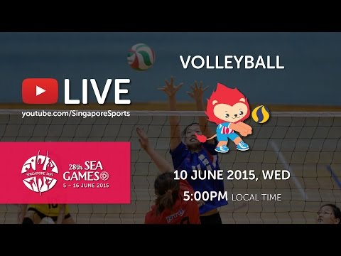 Volleyball men's Thailand vs Myanmar (Day 5) | 28th SEA Games Singapore 2015