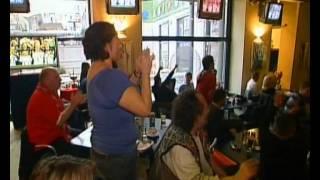 Serbian fans celebrate Djokovic winning the Australian Open