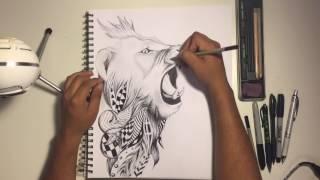 Speed Drawing Lion | Rios Art | 2017