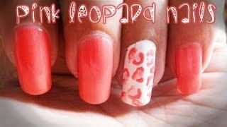 Pink Leopard Nails - Nail art tutorial Thumbnail