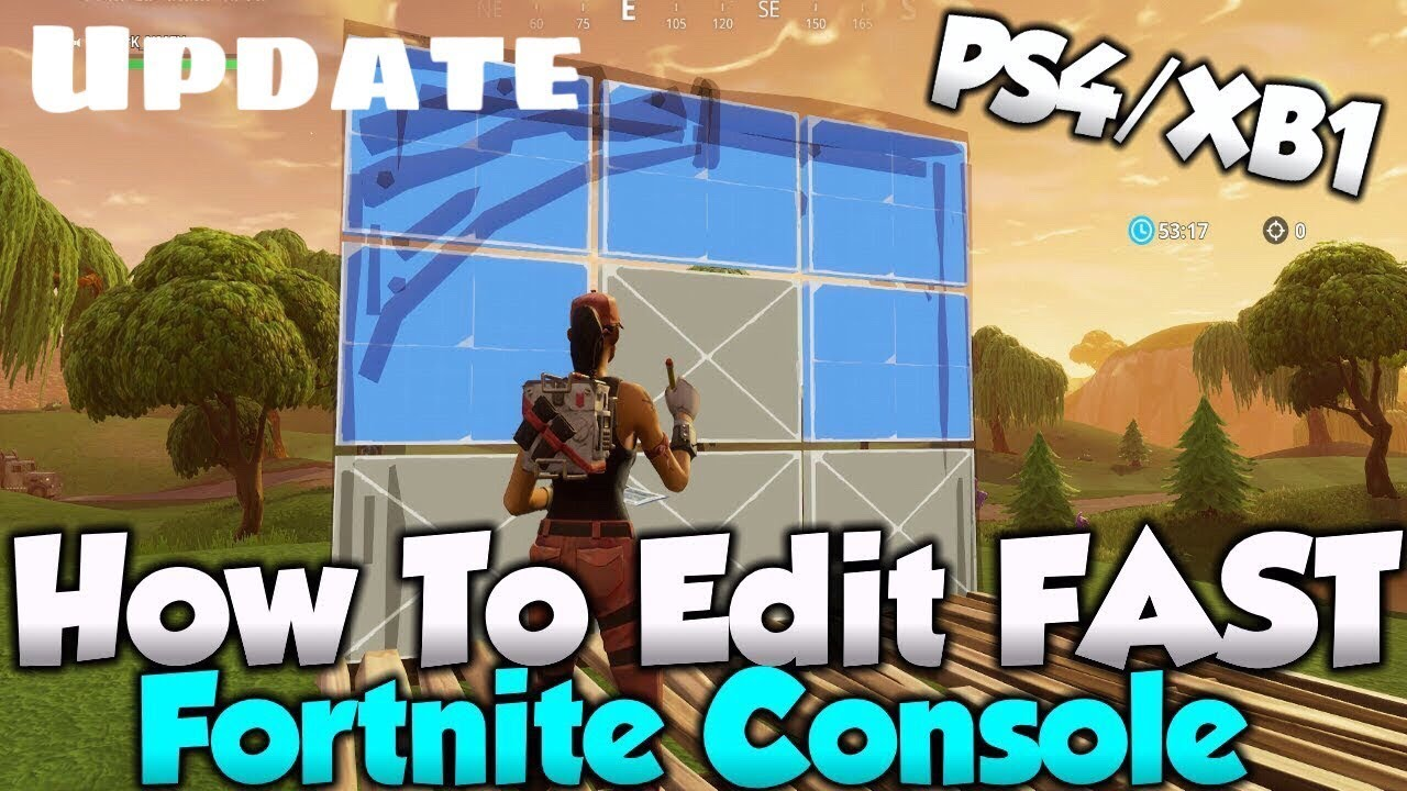 HOW TO EDIT FAST ON CONSOLE | Update Video