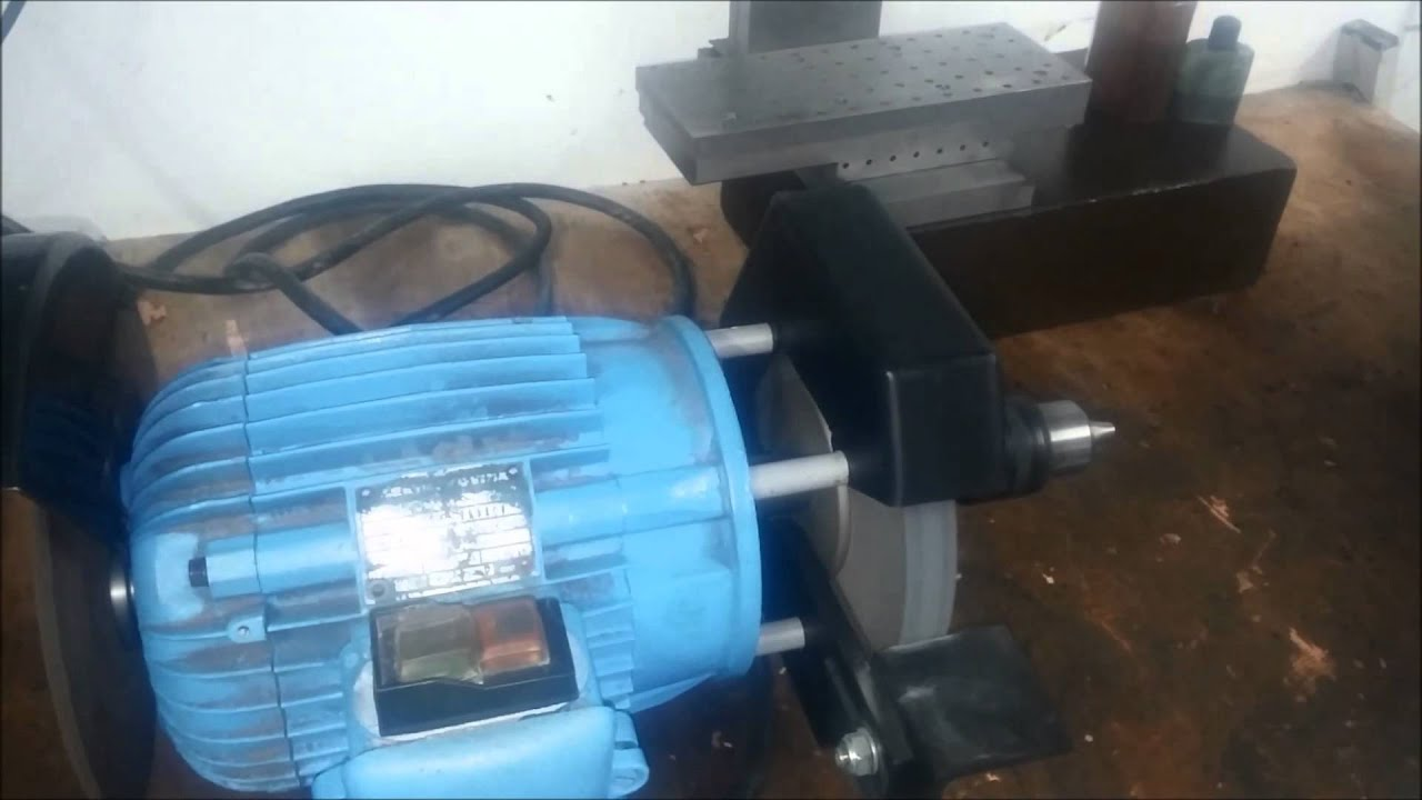 Awesome Homemade Bench Grinder Part - 11: Homemade Bench Grinder - YouTube