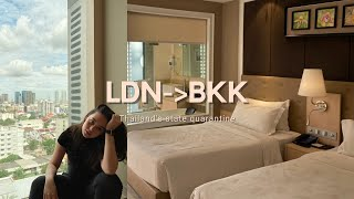 LND-BKK กักตัว14วันใน State quarantine. My Covid travel experience |K Train