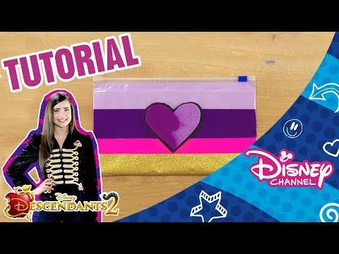 Descendants 2 | Craft Tutorial | Evie's Pencil Case | Official Disney Channel Africa