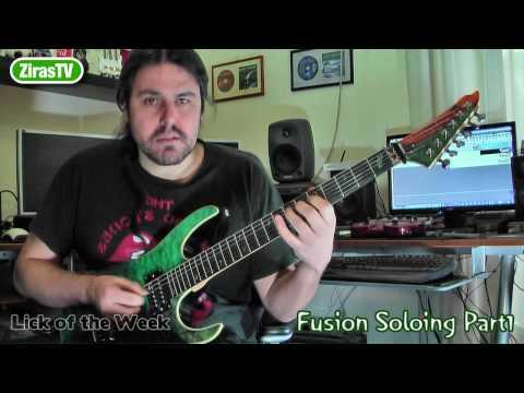 Rock-Fusion Soloing Part1 (Minor Pentatonics)   Lick Of The Week 75