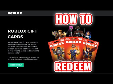 How To Redeem Roblox Gift Cards And Buy Robux Youtube