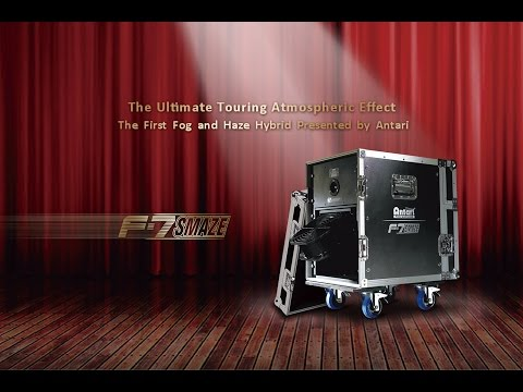 Machine à Brouillard F7 SMAZE 1650W DMX HF ANTARI vidéo