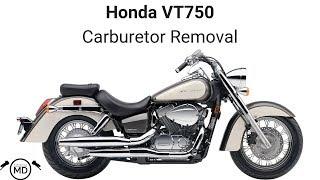 Honda VT750 Carburetor Removal