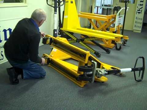 Homemade Hydraulic Pump >> Hand pallet trucks - YouTube