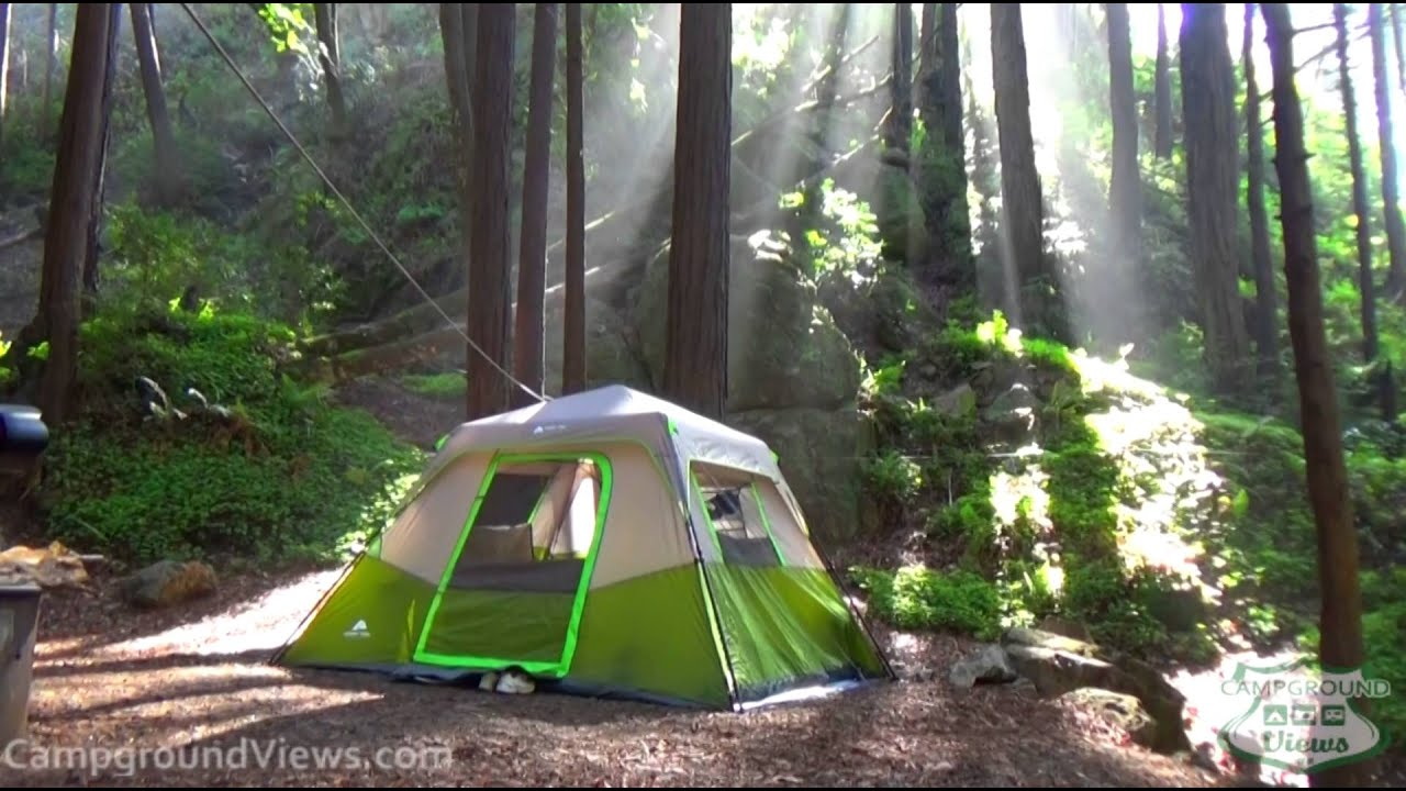 Limekiln State Park Campground Big Sur California Ca Youtube