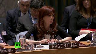 DISCURSO COMPLETO de Cristina Fernández en el Consejo de Seguridad de la ONU
