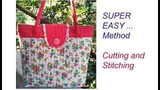 10 मिनट cutting stitching of handmade handbag /shopping bag /shoulder bag