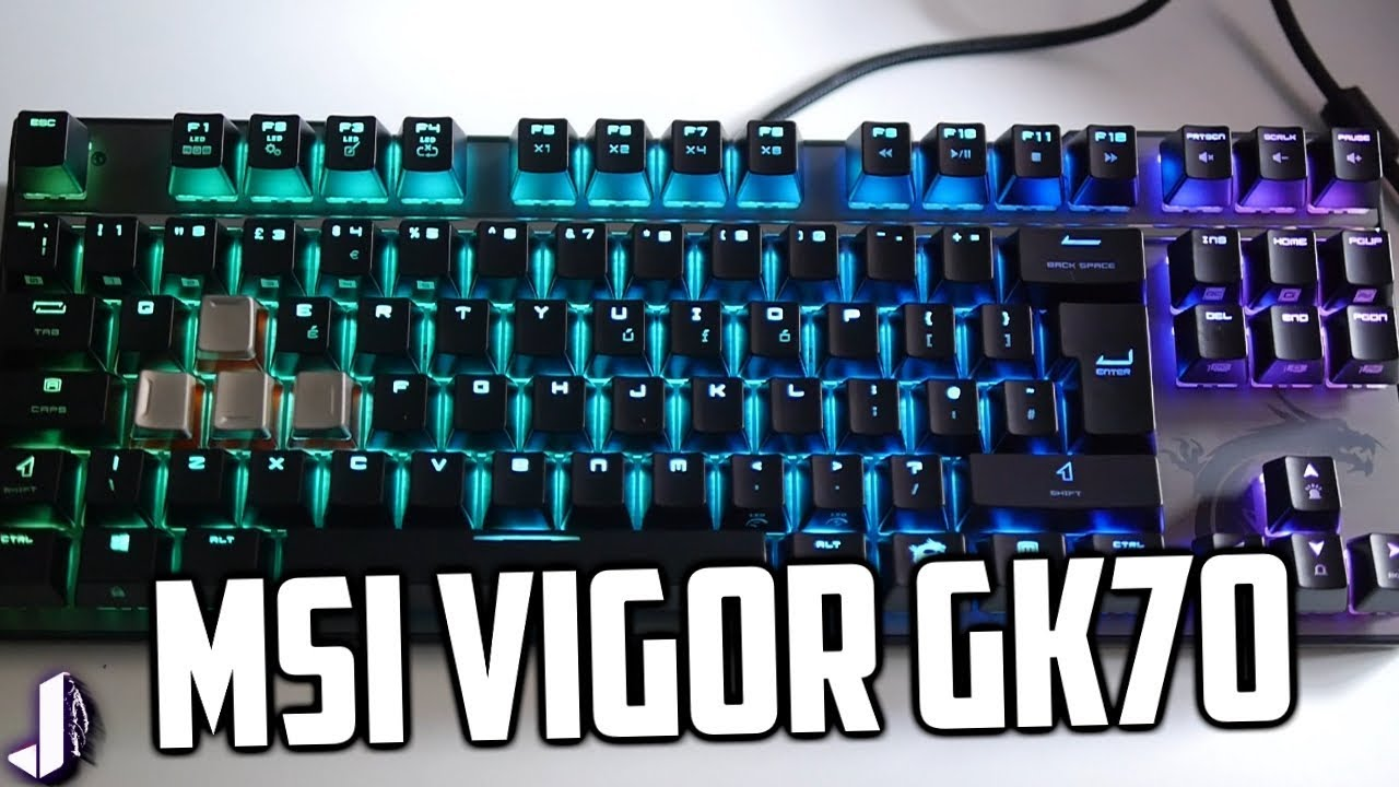 df122e972aca7 New MSI Vigor GK70 Mechanical Gaming Keyboard - YouTube