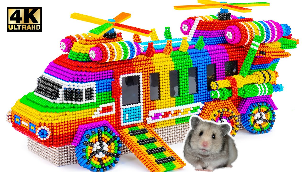 How To Make The Amazing Helicoper Bus For My Cute Hamster