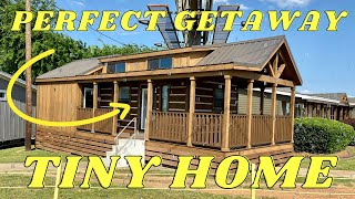 This Tiny House Is The Perfect Getaway Cabin!! Features You Will Only Find Here! Tiny Home Tour