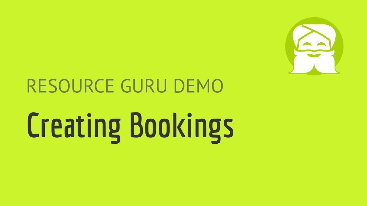 Resource Guru | Creating bookings