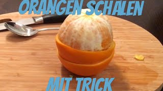 Orange peel with a trİck - Life Hack