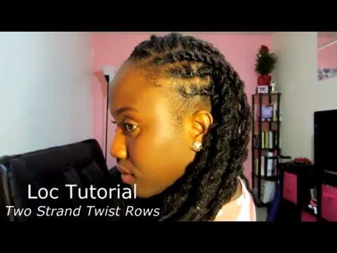 Loc Tutorial | Two Strand Twist Rows | JASMINE ROSE