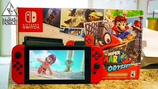 Super Mario Odyssey Switch Bundle Unboxing! Mario Odyssey JoyCon Unboxing + Review!