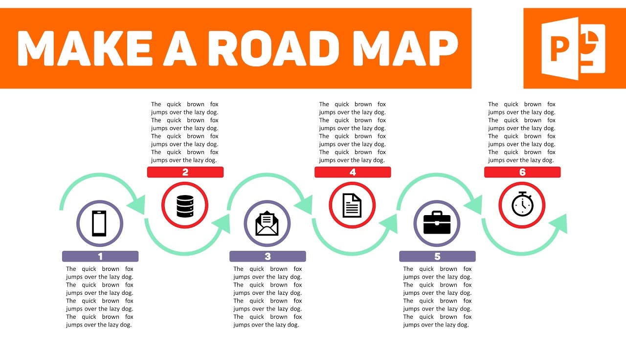 how to create a sleek looking roadmap on powerpoint youtube
