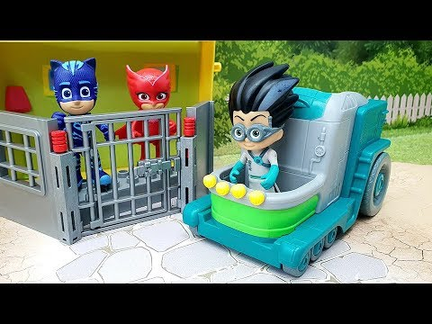 Видео для детей с игрушками Щенячий патруль и Герои в масках - Соревнования!