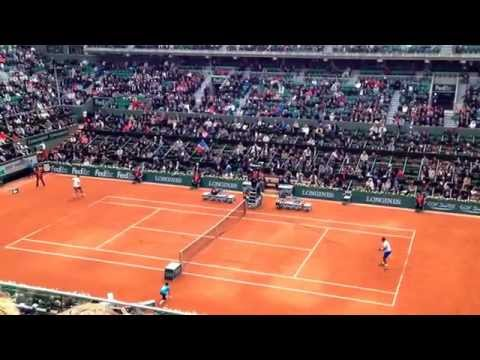 French Open 27 May 2014 - 1st Round Gael Monfils vs Victor Hanescu on Philippe Chatrier